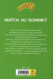 Fooot! ; match au sommet - 4ème de couverture - Format classique