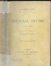 Journal Intime - 1878-1881 - Couverture - Format classique