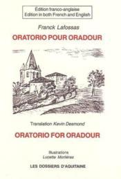 Oratorio For Oradour - Couverture - Format classique