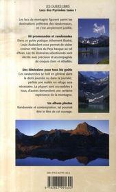 Lacs des Pyrénées t.1 : de l'atlantique au val d'aran - 4ème de couverture - Format classique