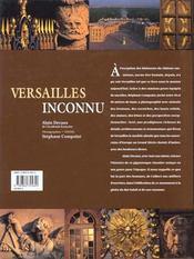 Versailles inconnu - 4ème de couverture - Format classique