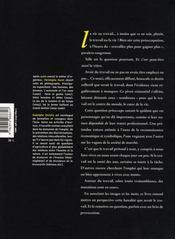 La vie au travail - 4ème de couverture - Format classique