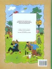 Les Aventures De Tintin ; D'Avonteure Van Tintin T.11; Et Gehaaim Van De Licorne - 4ème de couverture - Format classique