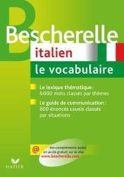 Bescherelle ; italien ; vocabulaire - Couverture - Format classique