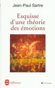 Esquisse d'une théorie des émotions - Couverture - Format classique