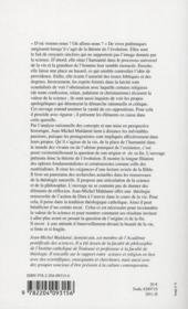 Création par évolution ; science, philosophie et théologie - 4ème de couverture - Format classique