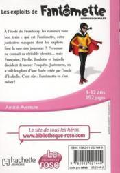 Fantômette t.1 ; les exploits de Fantômette - 4ème de couverture - Format classique