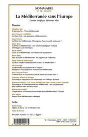 La méditerranée sans l'Europe - 4ème de couverture - Format classique
