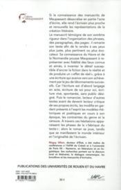 Pierre et Jean, le manuscrit ; Guy de Maupassant - 4ème de couverture - Format classique