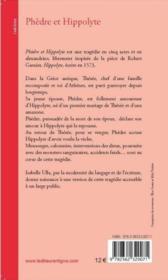 Phèdre et Hippolyte - 4ème de couverture - Format classique