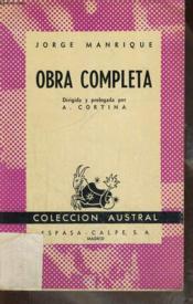 Obra Completa - Couverture - Format classique