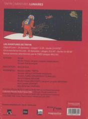 Tintin ; aventures lunaires - 4ème de couverture - Format classique