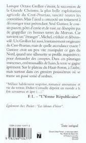 L'Heritage De Ludovic Grollier - 4ème de couverture - Format classique