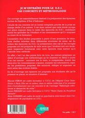 Je M'Entraine Pour Le Dei ; Cas Concrets Et Methodologie - 4ème de couverture - Format classique