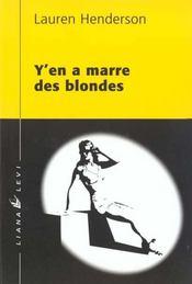 Y en a marre des blondes - Intérieur - Format classique