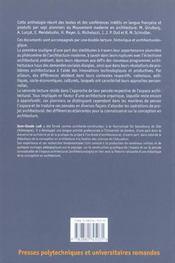 Pionniers de l'architecture moderne, une anthologie - 4ème de couverture - Format classique