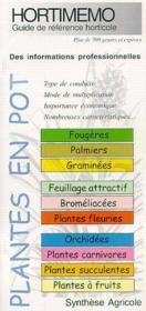 Hortimemo plantes en pot - Couverture - Format classique