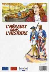 L'Hérault dans l'histoire - 4ème de couverture - Format classique
