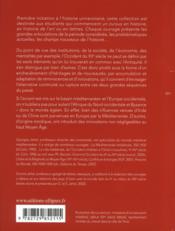 De l'Antiquité au Moyen age ; continuités et ruptures ; III-XII siècle - 4ème de couverture - Format classique