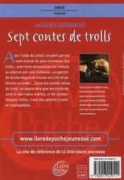 Sept contes de trolls - 4ème de couverture - Format classique