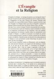 L'évangiel et la religion - 4ème de couverture - Format classique