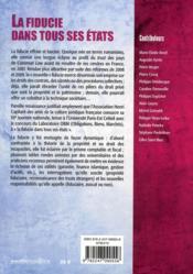 Journées nationales t.15 ; la fiducie dans tous ses états (édition 2011) - 4ème de couverture - Format classique