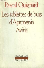 Les tablettes de buis d'apronenia avitia - Couverture - Format classique