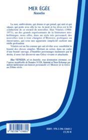 Mer Egée - 4ème de couverture - Format classique