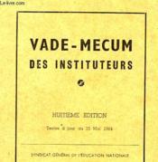 Vade-Mecum Des Instituteurs - Couverture - Format classique