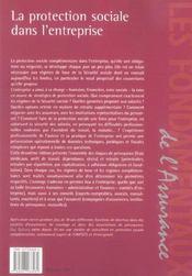 La protection sociale dans l'entreprise (2e edition) - 4ème de couverture - Format classique