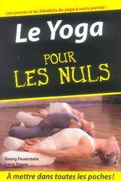 Le yoga pour les nuls - Intérieur - Format classique