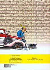 Garage isidore t.6 ; gentleman depanneur - 4ème de couverture - Format classique