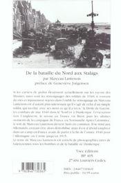 De la bataille du nord aux stalags - 4ème de couverture - Format classique