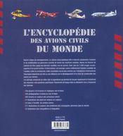 Encyclopedie des avions civils du monde - 4ème de couverture - Format classique