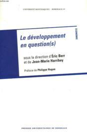 Sciences économiques et juridiques : le développement en question(s) - Couverture - Format classique