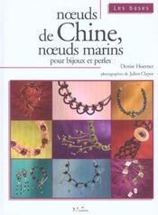 Noeuds De Chine Noeuds Marins Pour Bijoux Et Perles - Intérieur - Format classique