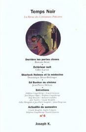 Revue Temps Noir N.6 - Intérieur - Format classique