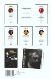 Revue Temps Noir N.6 - 4ème de couverture - Format classique