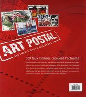 Mail-art ; 350 faux timbres oblitérés - 4ème de couverture - Format classique