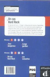 Alex Leroc, Journaliste ; Un Cas Hard Rock ; Niveau 2 - 4ème de couverture - Format classique