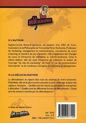 La delocalisation - 4ème de couverture - Format classique