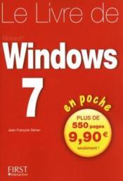 Le livre de Windows 7 en poche - Couverture - Format classique