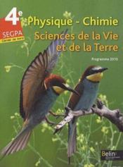 Physique-chimie ; 4ème ; SEGPA ; Livre de l'élève - Couverture - Format classique