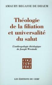 Théologie de la filiation et universalité du salut - Couverture - Format classique