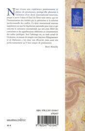 Écrits ; études et notes sur l'arbitrage - 4ème de couverture - Format classique