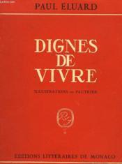 Dignes De Vivre - Couverture - Format classique