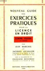 Nouveau Guide Des Exercices Pratiques Pour La Licence En Droit - Couverture - Format classique