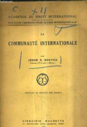 La Communaute Internationale. - Couverture - Format classique