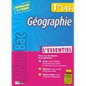 Géographie ; terminales L-ES - Couverture - Format classique