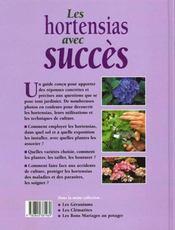Jardinez pratique ; les hortensias avec succes - 4ème de couverture - Format classique